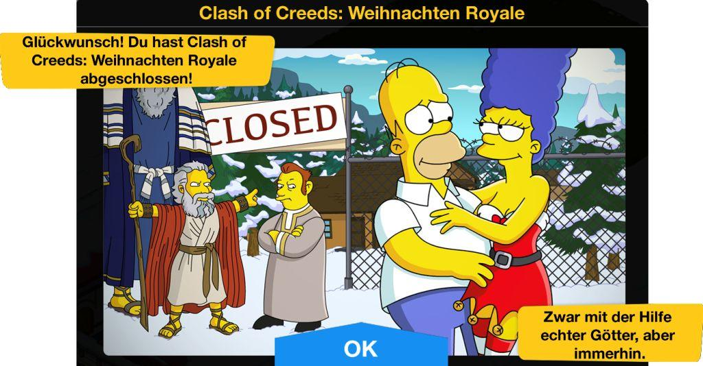 Clash of Creeds Weihnachten Royale Ende